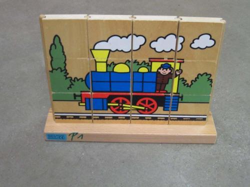 P1 - Houten puzzel trein