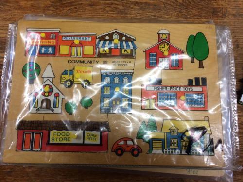 P11 - Houten puzzel dorp