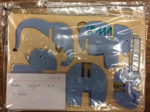 P111 - Houten 3D puzzel olifant