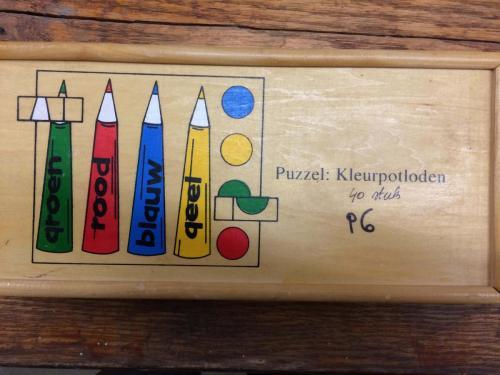 P6 - Houten puzzel kleurpotloden